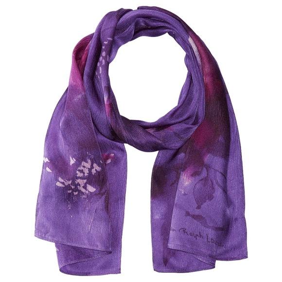 Lauren Ralph Lauren Accessories - LAUREN Ralph Lauren Karina Floral Scarf Purple